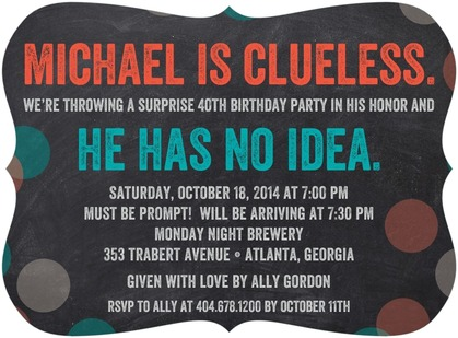 personalized surprise party invites