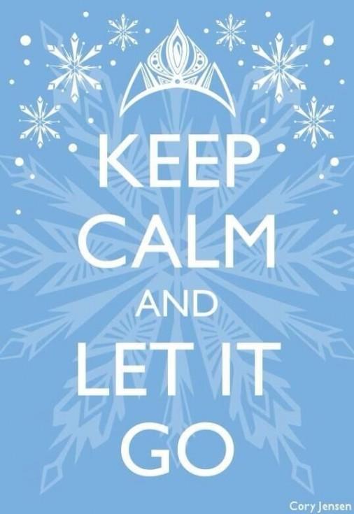 frozen keep calm let it go