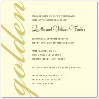 50th anniversary party invites wedding paper divas