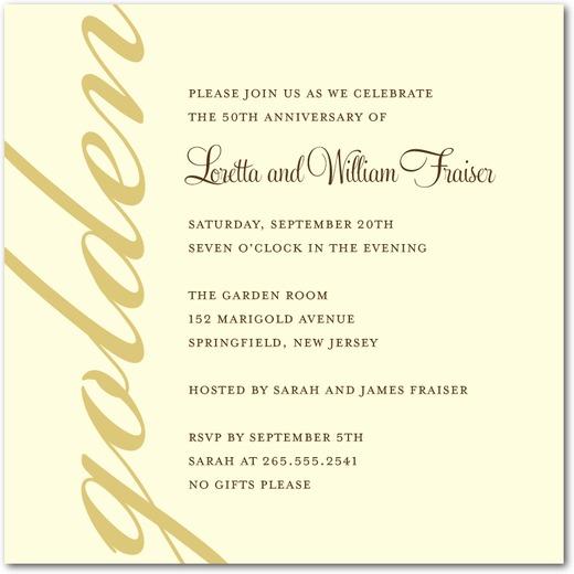 50th anniversary party invites wedding paper divas