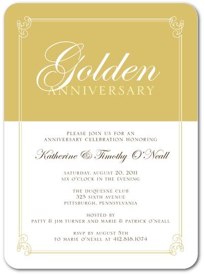 50th wedding anniversary party invitations_no_photo