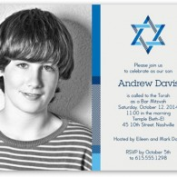 bar mitzvah invitations design blue