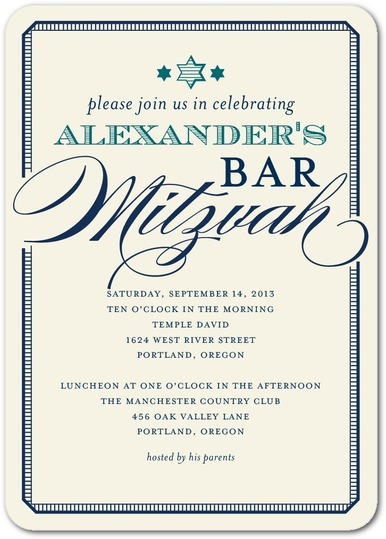 26 Best Inexpensive Bat & Bar Mitzvah Invitations: Design ...