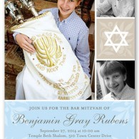 best bar mitzvah invitations mult photo