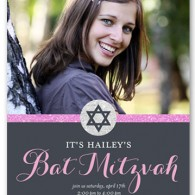 best bat mitzvah invitations design idea star