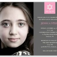 bat mitzvah invitations with photo