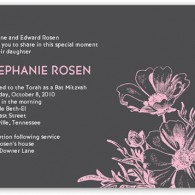 bat_mitzvah invitations floral with flowers