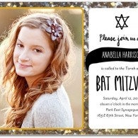 best_bat mitzvah invitations online with photo