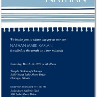 best cheap bar mitzvah invites online blue