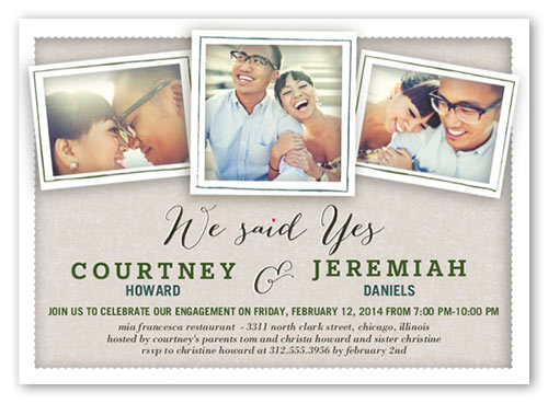 best engagement invitations we said yes 3 photos