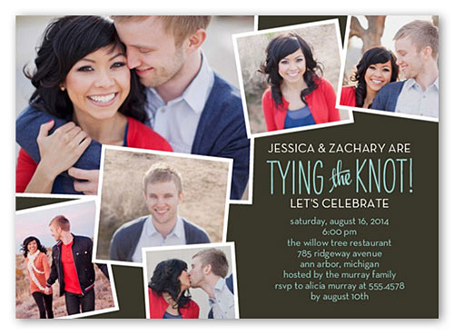 best engagement invitations tie the knot