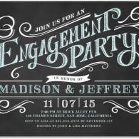 best personalized engagement party invitations wedding paper divas elegant