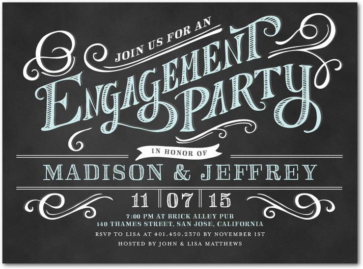 Best Engagement Party Invitations Elegant Custom