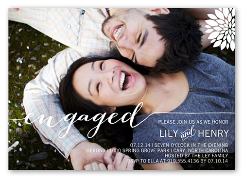 best engagement party invitations one large photo