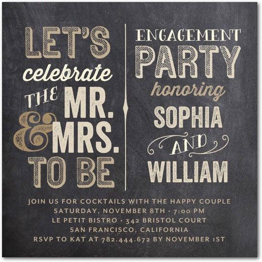 personalized engagement party invitations wedding paper divas mr mrs