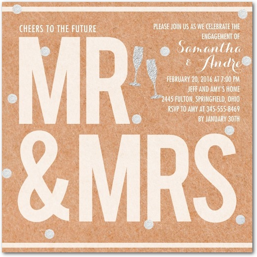 bold and bubbly square_engagement party invitations