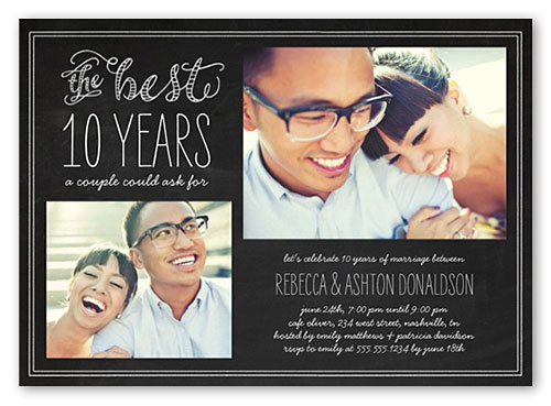 customized anniversary party invitations 2 photos