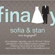 engagement invitations finally dress tuxedo shutterfly