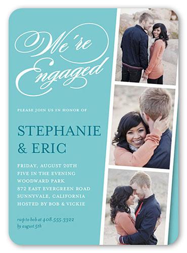 engagement invitations photo strip