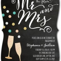 engagement party invitations champagne toast glasses