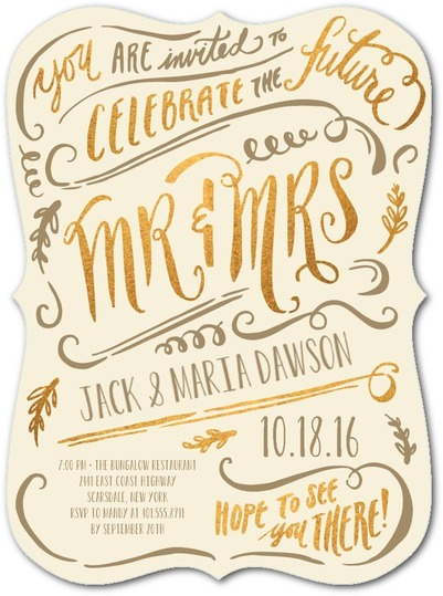 engagement party invitations script typography