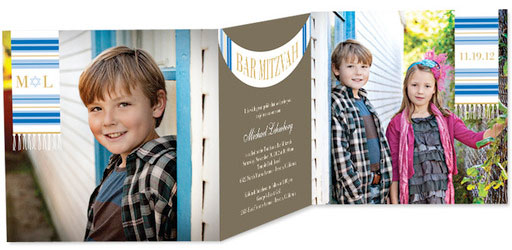 folding_bar mitzvah invitations with photos