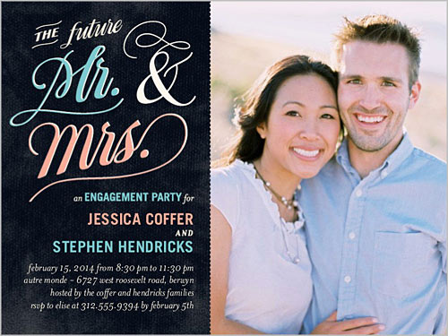 future mr mrs engagement party invitations photo