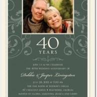 inexpensive anniversary invites floral one photo
