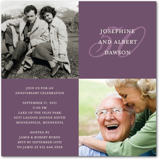inexpensive anniversary invites 2 photos