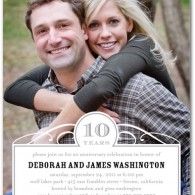 inexpensive anniversary invites with photo