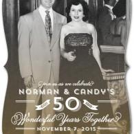 inexpensive anniversary invites vintage