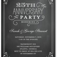 inexpensive anniversary invites vintage design