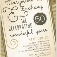 inexpensive 50th anniversary invites