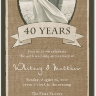 long wedding anniversary invitation photo