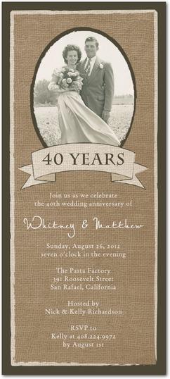 long wedding anniversary invitation photo