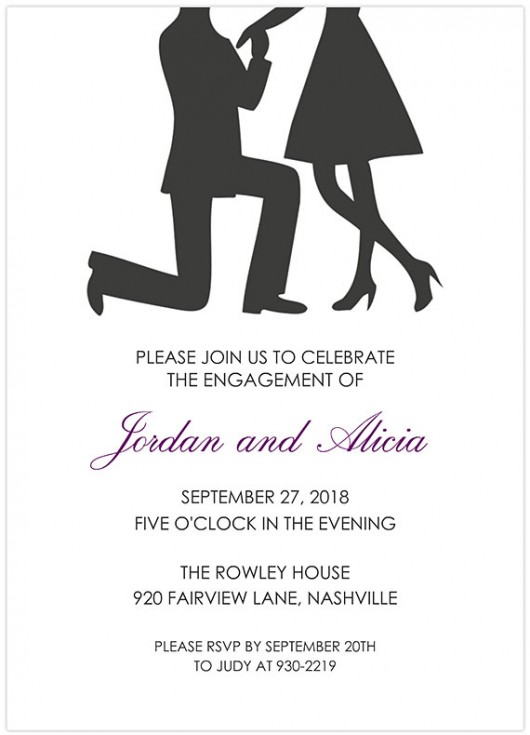 mixbook bended knee engagement party invitations