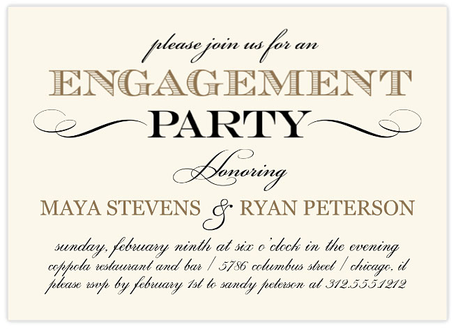 mixbook classic vintage engagement party invitations