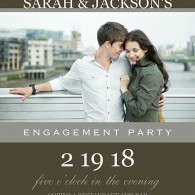 mixbook photo engagement party invitations