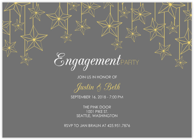 mixbook hanging stars engagement party invitations