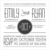mixbook stylish text engagement party invitations