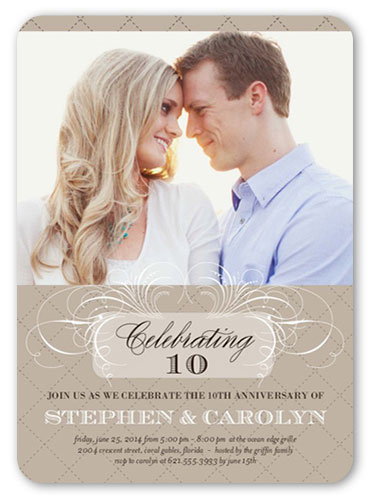 personalized anniversary party invitations photo