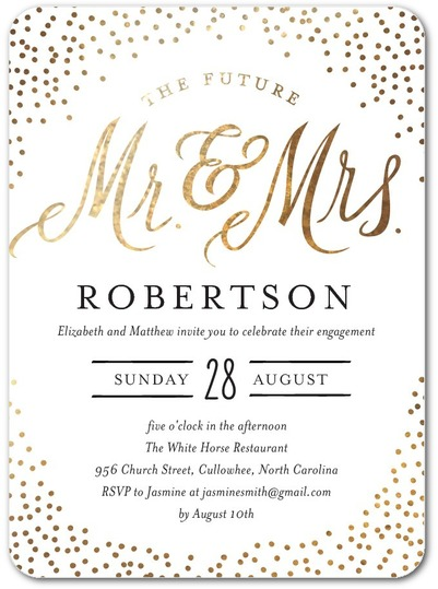 mr mrs personalized_engagement party invitations