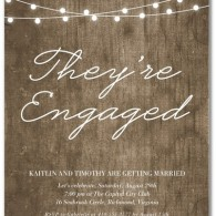 they are engaged personalized engagement party invites lights