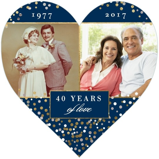personalized_heart shaped anniversary party invitations