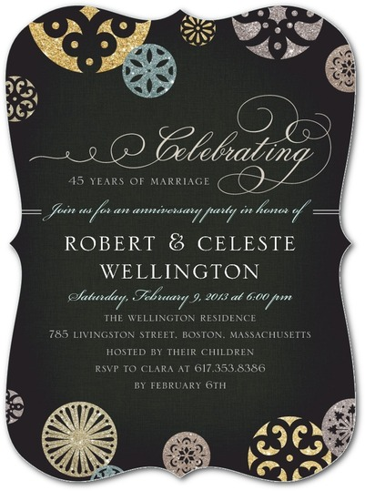personalized wedding_anniversary party invitation no photo