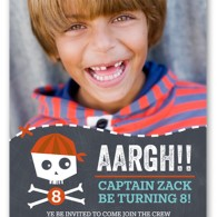 shutterfly birthday invitation boy pirate