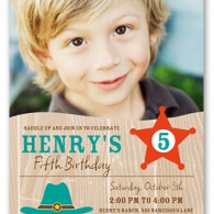shutterfly birthday invitation cowboy