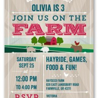 shutterfly birthday invitation farm party