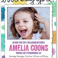 shutterfly birthday invitations girl
