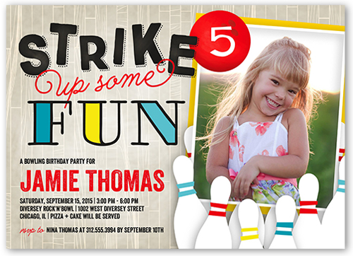 shutterfly birthday invitation coupon girl bowling party